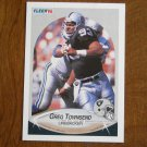 Greg Townsend Los Angeles Raiders Linebacker Card No. 261 - 1990 Fleer Football Card