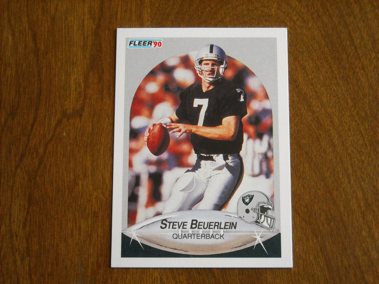 Steve Beuerlein Los Angeles Raiders Quarterback Card No. 251 - 1990 Fleer Football Card