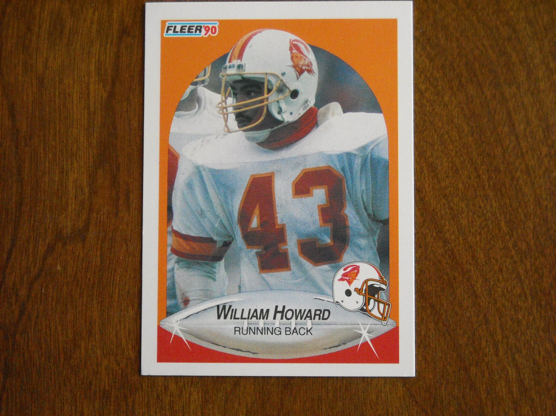 William Howard Tampa Bay Buccaneers Running Back Card No. 349 - 1990 Fleer Football Card