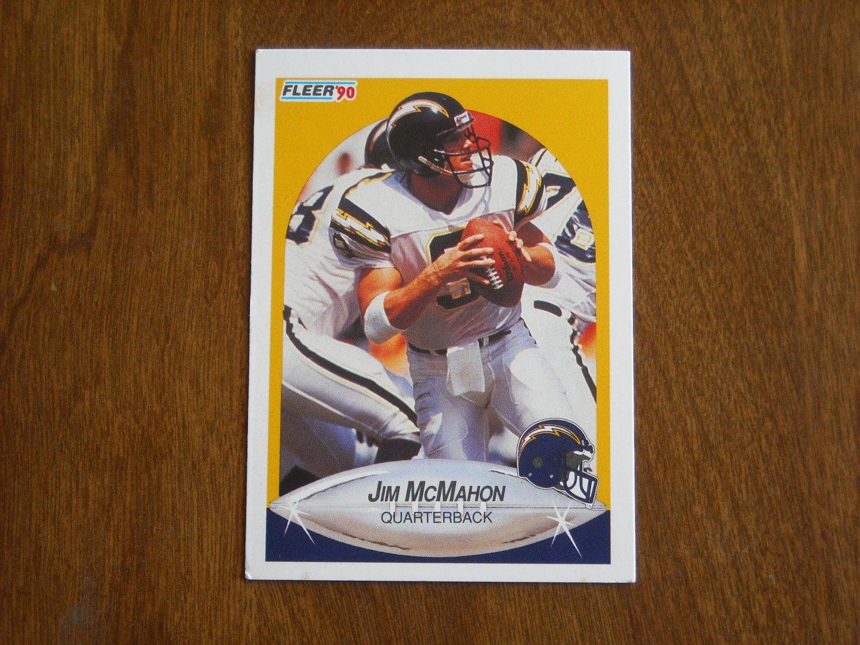 Jim McMahon San Diego Chargers Quarterback No. 310 - 1990 Fleer Football Card