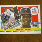 Melido Perez Chicago White Sox Pitcher Card No 195 - 1990 Topps Baseball Card