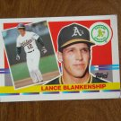 Lance Blakenship Oakland Athletics A's 2b - of Card No 173 - 1990 Topps Baseball Card