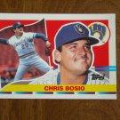 Chris Bosio Milwaukee Brewers Pitcher Card No. 139 - 1990 Topps Baseball Card