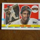 Jose Uribe San Francisco Giants Shortstop Card No. 213 - 1990 Topps Baseball Card