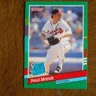 Paul Marak Atlanta Braves Pitcher Rated Rookie Card No. 413 - 1990 Leaf Baseball Card