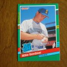 Mike Gardiner Seattle Mariners Pitcher Rated Rookie Card No. 417 - 1990 Leaf Baseball Card
