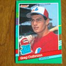 Greg Colbrunn Montreal Expos Catcher Rated Rookie Card No. 425 - 1990 Leaf Baseball Card