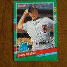 Steve Decker San Francisco Giants Catcher Rated Rookie Card No. 428 - 1990 Leaf Baseball Card