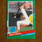 Steve Chitren Oakland Athletics A's Pitcher Rated Rookie Card No. 431 - 1990 Leaf Baseball Card