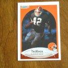 Tim Manoa Cleveland Browns Running Back Card No 53 - 1990 Fleer Football Card