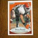 Gregg Rakoczy Cleveland Browns Offensive Lineman Card No 57 - 1990 Fleer Football Card