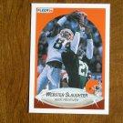 Webster Slaughter Cleveland Browns Wide Receiver Card No 58 - 1990 Fleer Football Card