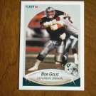Bob Golic Los Angeles Raiders Defensive Lineman Card No 254 - 1990 Fleer Football Card