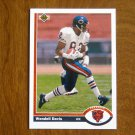 Wendell Davis Chicago Bears Wide Receiver Card No 501 - 1991 Upper Deck Football Card