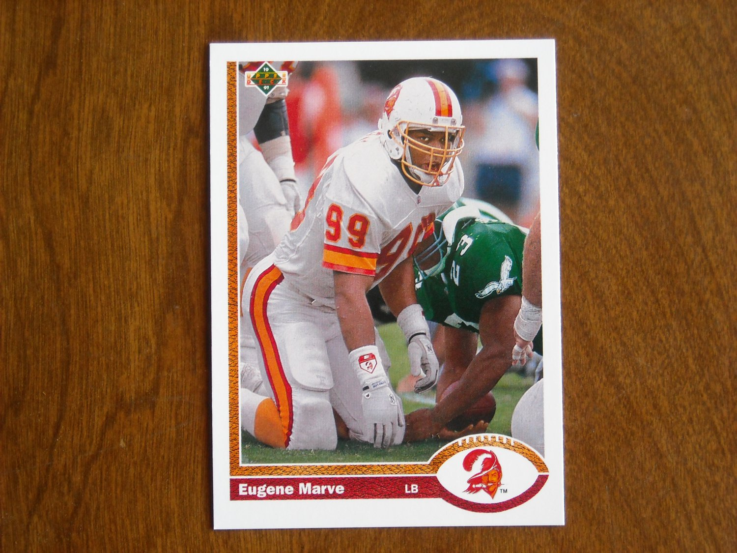 Eugene Marve Tampa Bay Buccaneers Linebacker Card No 508 - 1991 Upper Deck Football Card