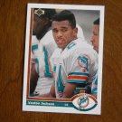 Vestee Jackson Miami Dolphins Cornerback Card No. 528 - 1991 Upper Deck Football Card