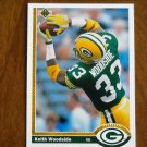 Keith Woodside Green Bay Packers Running Back Card No. 536 - 1991 Upper Deck Football Card