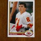 Ross Thomas Kansas City Chiefs Wide Receiver Card No. 543 - 1991 Upper Deck Football Card