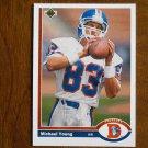 Michael Young Denver Broncos Wide Receiver Card No. 553 - 1991 Upper Deck Football Card