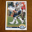 John Friesz San Diego Chargers Quarterback Card No. 555 - 1991 Upper Deck Football Card