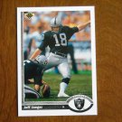 Jim Jaeger Los Angeles Raiders Kicker Card No. 563 - 1991 Upper Deck Football Card