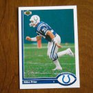 Mike Prior Indianapolis Colts Safety Card No. 569 - 1991 Upper Deck Football Card