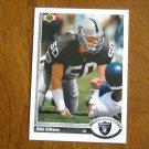 Riki Ellison Los Angeles Raiders Linebacker Card No. 586 - 1991 Upper Deck Football Card