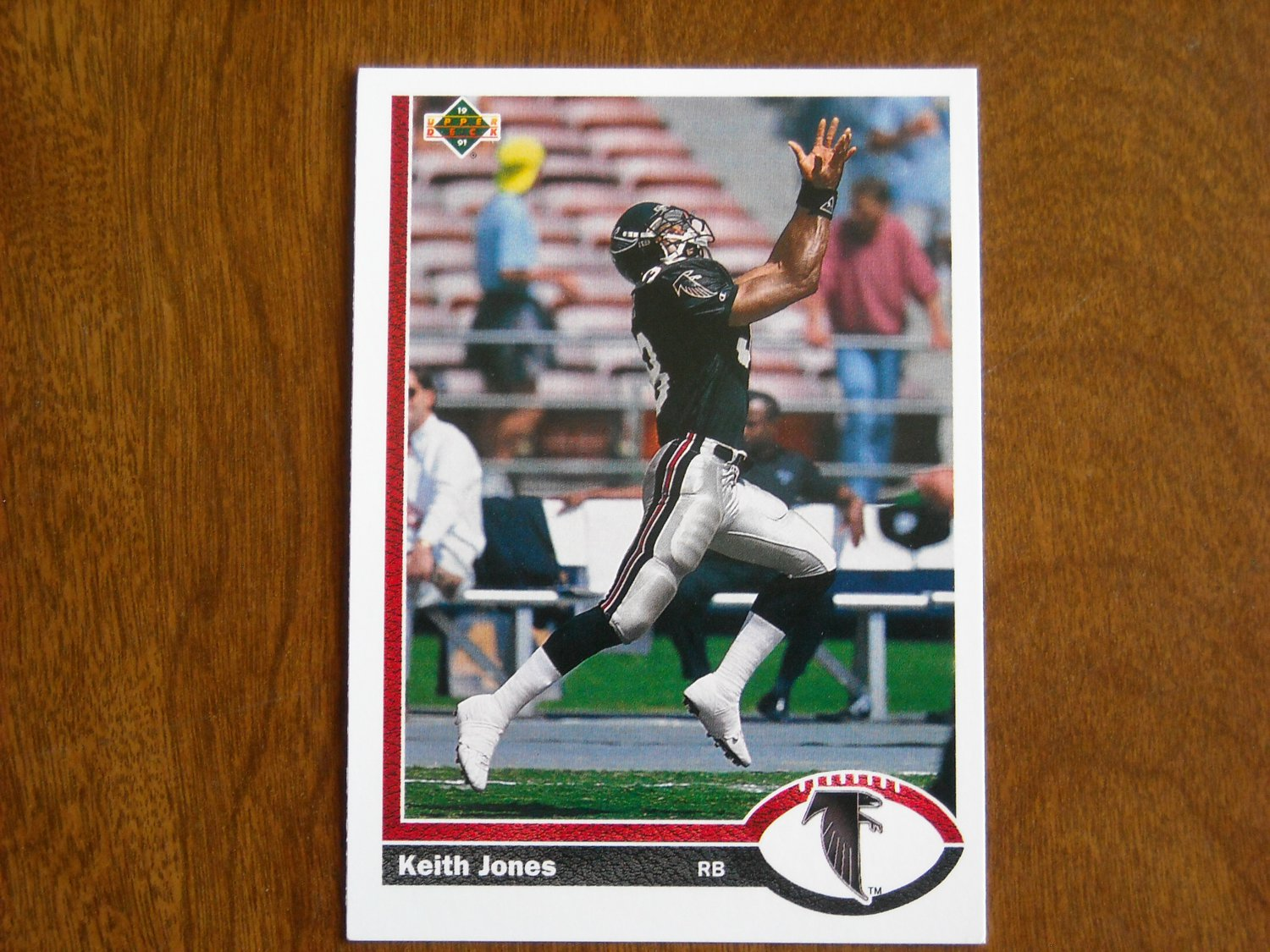 Keith Jones Atlanta Falcons Running Back Card No. 594 - 1991 Upper Deck Football Card