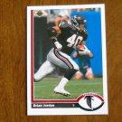 Brian Jordan Atlanta Falcons Safety Card No. 596 - 1991 Upper Deck Football Card