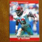 Aundray Bruce Atlanta Falcons Linebacker Card No. 93 - 1990 NFL Pro Set Football Card