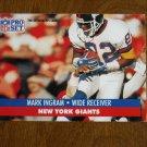Mark Ingram New York Giants #65 - 1991 NFL Pro Set Football Card