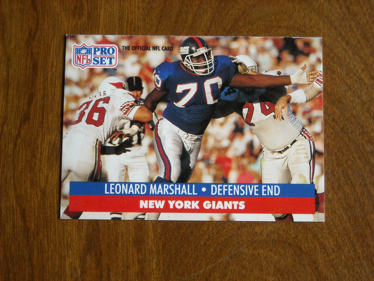 Leonard Marshall New York Giants Defensive End Card No. 67 - 1991 NFL Pro Set Football Card