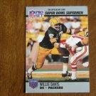 Willie Davis Green Bay Packers DE Super Bowl XXV Supermen No. 75 - 1990 Pro Set Football Card