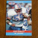 John Grimsley Houston Oilers LB Card No. 120 - 1990 NFL Pro Set Football Card