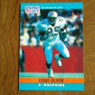 Louis Oliver Miami Dolphins S Card No. 182 - 1990 NFL Pro Set Football Card