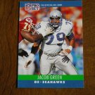 Jacob Green Seattle Seahawks DE Card No. 301 - 1990 NFL Pro Set Football Card