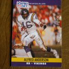 Alfred Anderson Minnesota Vikings RB Card No. 565 - 1990 NFL Pro Set Football Card