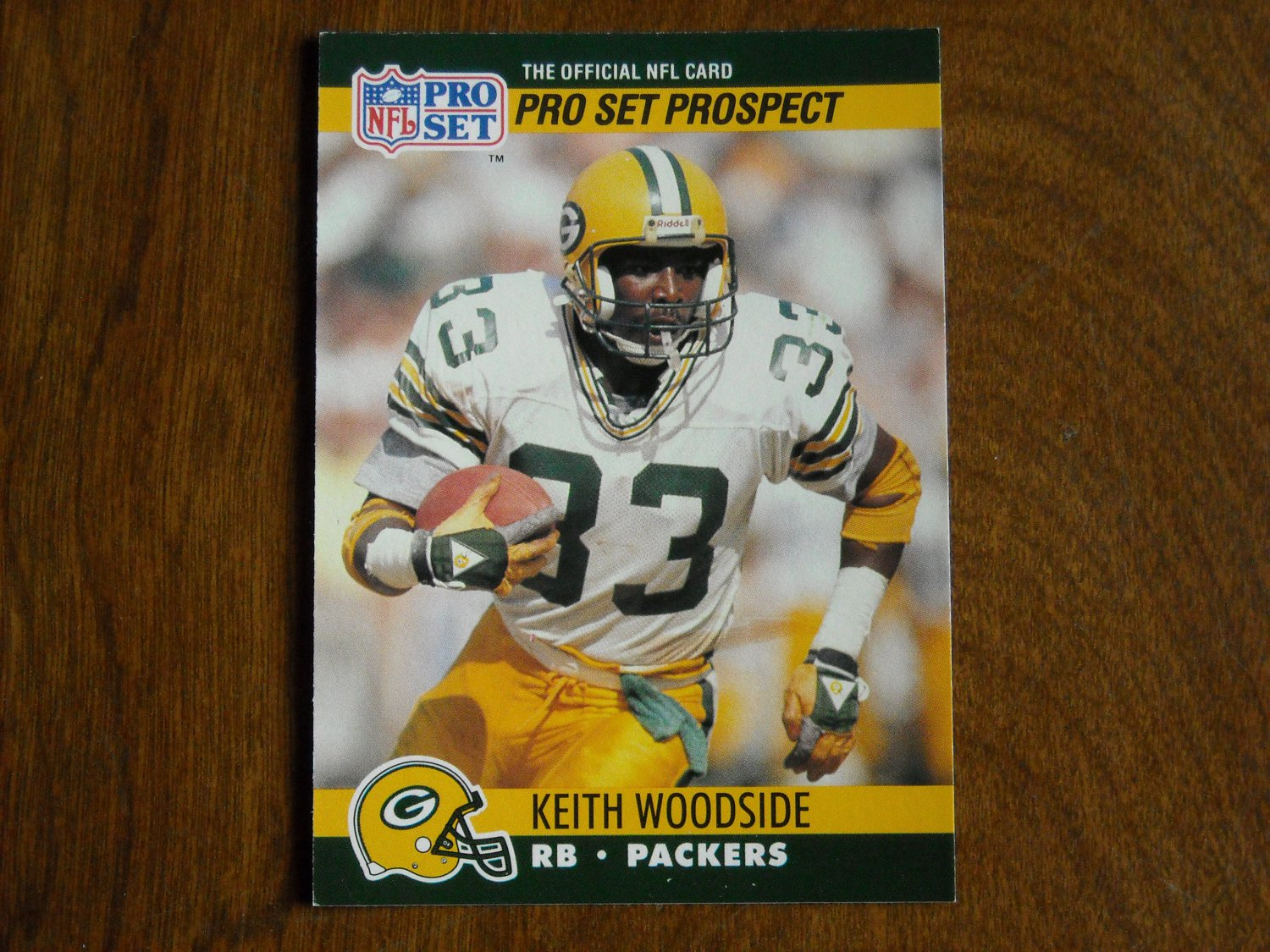 Keith Woodside Green Bay Packers RB Card No. 734 - 1990 NFL Pro Set Football Card
