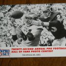 Twenty Second Annual Pro Football Hall of Fame Photo Contest Card No. 798