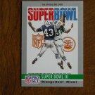 Super Bowl III Orange Bowl Miami Jets vs. Colts Card No. 3 - 1990 NFL Pro Set Football Card