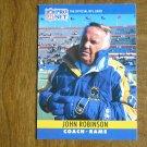 John Robinson Los Angeles Rams Head Coach Card No. 176 - 1990 NFL Pro Set Football Card