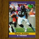 Randall McDaniel Minnesota Vikings G Card No. 191 - 1990 NFL Pro Set Football Card