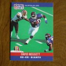 David Meggett New York Giants RB KR Card No. 228 - 1990 NFL Pro Set Football Card