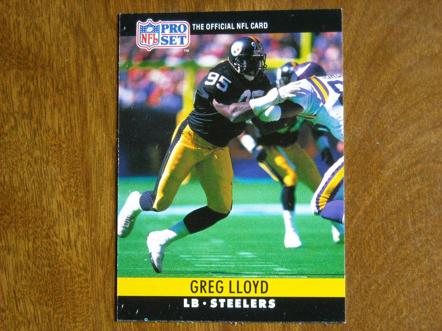 Greg Lloyd Pittsburgh Steelers LB Card No. 272 - 1990 NFL Pro Set Football Card