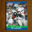 John L. Williams Seattle Seahawks RB Card No. 306 - 1990 NFL Pro Set Football Card