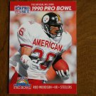 Rod Woodson Pittsburgh Steelers KR Card No. 377 - 1990 NFL Pro Set Football Card