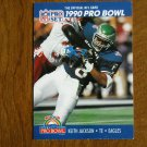 Keith Jackson Philadelphia Eagles TE Card No. 396 - 1990 NFL Pro Set Football Card