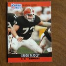 Gregg Rakoczy Cleveland Browns C G Card No. 476 - 1990 NFL Pro Set Football Card