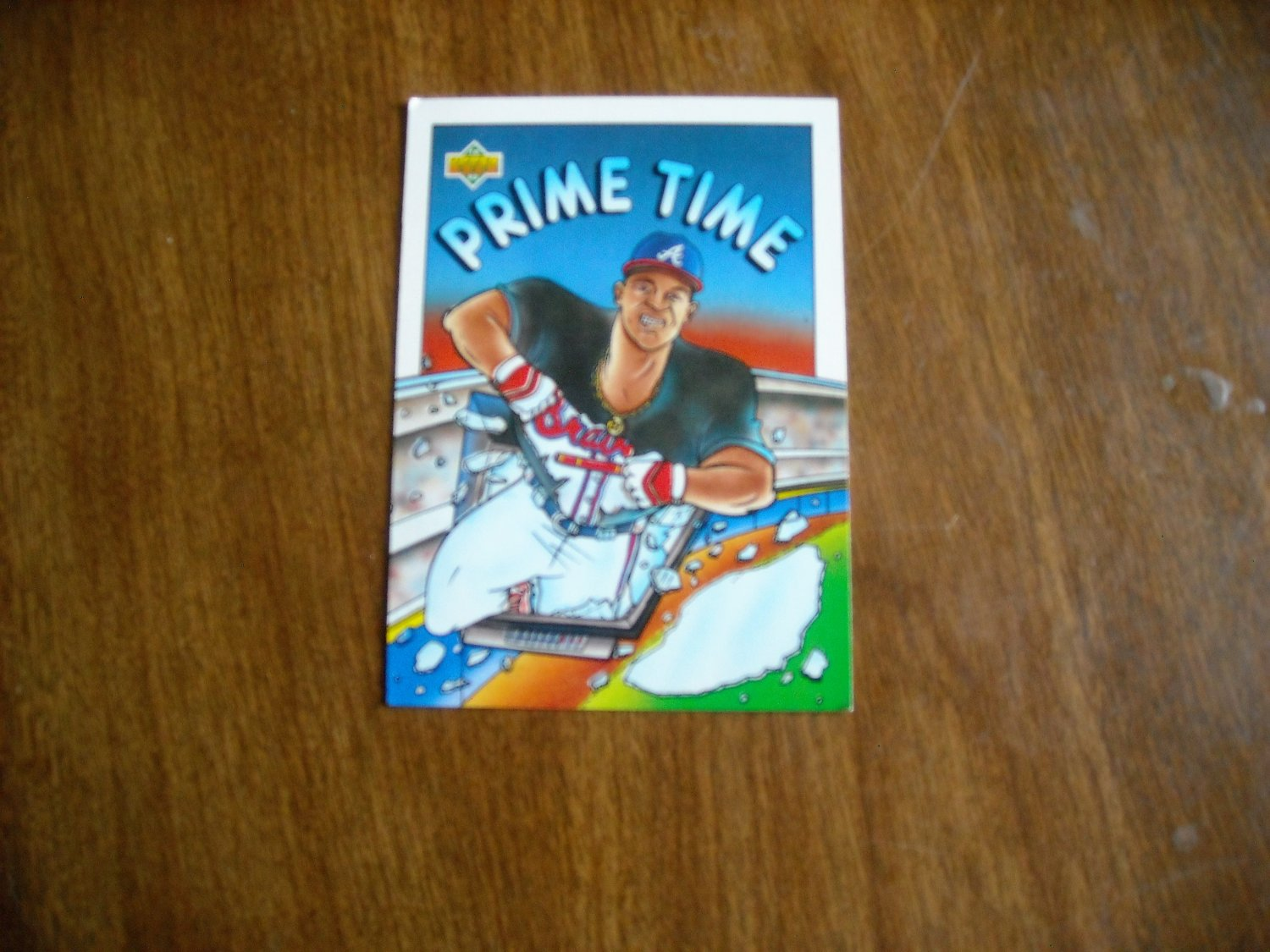 Deion Sanders Atlanta Braves Outfield Card No. 34 - Prime Time 1993 Upper Deck Baseball Card