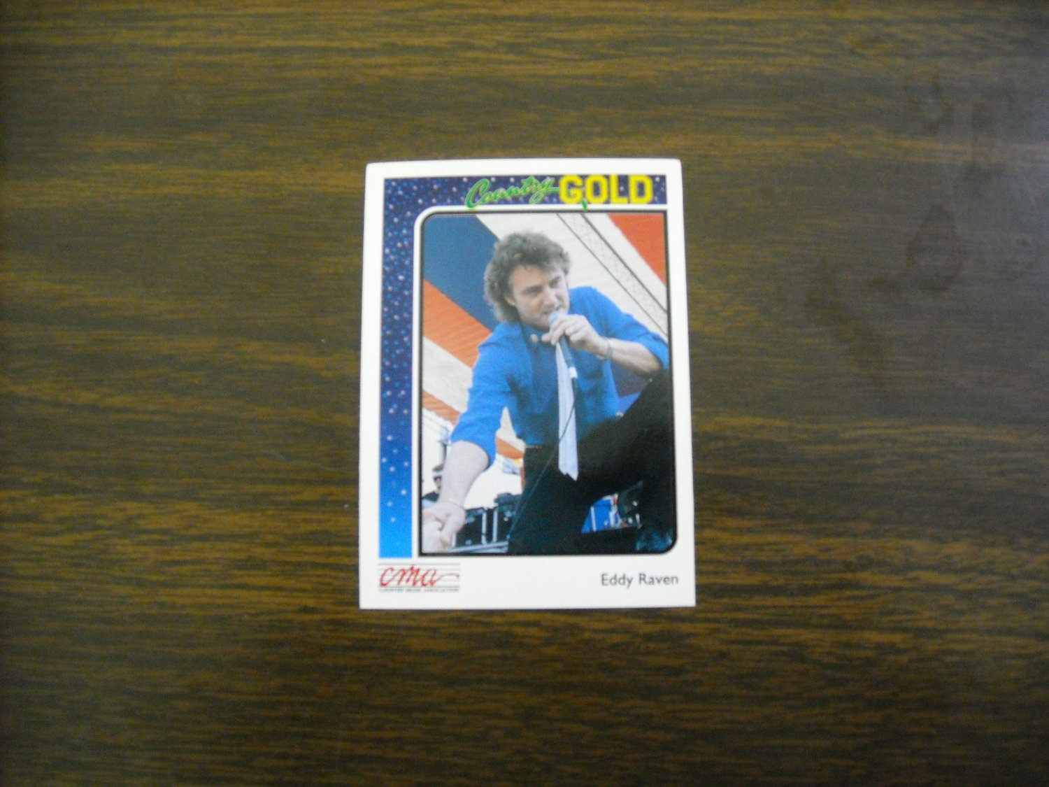 Eddy Raven Country Gold Card No. 36 - CMA Country Music Association 1992 Sterling Cards
